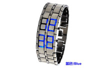 Wholesale New Great Mens Black Lava Style Iron Samurai LED Metal Watch Men s Electronics Watches Have Bo