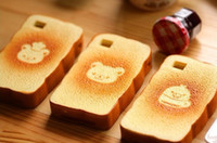 Wholesale New cartoon bear amp chick toast squishy Mobile phone case for iphone S