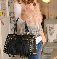 Wholesale rivet lace punk rock cool vintage leisure Fashion Handbag Tote shoulder bag Designer Lady girl