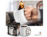 Wholesale HOT New arrival fashionable Fred Friends Coffee Mug Odd Fist Cup Boxing Mugs Creative Fisticup Gift