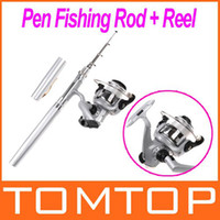 Wholesale High Quality Mini Aluminum Telescopic Pocket Pen Fishing Rod Pole Reel H8022
