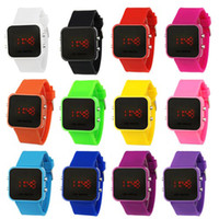 Wholesale Fashion Magic LED Digital Colorful Silicone Date Unisex Sport Watch Wrist watch Watch C5005