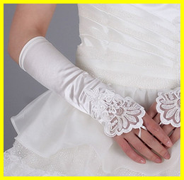 Wholesale White Bridal Glove Wedding Gloves Lace white or ivory In Stock