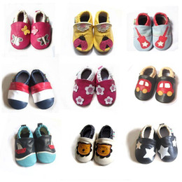 Wholesale Genuine leather Baby soft sole shoes Infant shoes M Baby sandals children shoes MANY designs