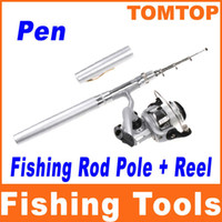 Wholesale High Quality Mini Aluminum Telescopic Pocket Pen Fishing Rod Pole with Reel H8022