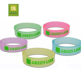 Wholesale adjustable luminous mosquito repellent bracelet colors mixed