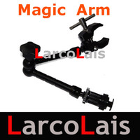 Wholesale 11 quot Inch Articulating Magic Arm Super Clamp for Camera DV LCD Monitor LED light Shoemount DSLR Rig