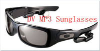 Wholesale Sunglasses Hidden Camera MV300 spy Video Cameras sunglass DVR with GB GB card and MP3