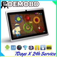 Wholesale 7 quot Allwinner A13 Q88 tablet pc point capacitive Screen android Multi Touch GHz MB