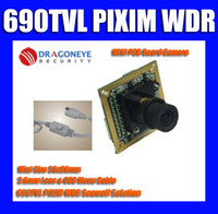 Wholesale 690TVL TVL PIXIM WDR Mini PCB Board Camera mm Lens amp OSD Menu cable Seawolf hidden camera