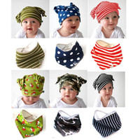 Wholesale baby cap kids hat new born deltoidal scarf feeding bib towel wipe bibs