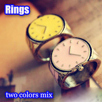 Wholesale The vintage watch Rings candy colors creative fashion jewelry great gift Cheap unique finger ring