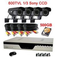 Bullet 600TVL 84pcs High Resolution 600TVL Waterproof 84IR CCTV Camera Security System 4CH H.264 DVR