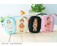 Wholesale NEW cute Kawaii doll girl coin bag Portable Wallet Cosmetic Bag coin Purse