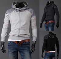 Wholesale 2012 monde Mens Jacket Hoodie Sweatshirt Sweats Casual hooded baseball Jacket size M L XL XXL2319