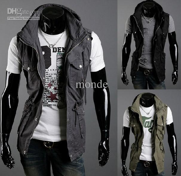 Hot New Monde Mens Jacket Hoodie Sweatshirt Sweats Sleeveless ...