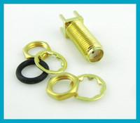 100pcs SMA Jack female bulkhead O- ring PCB board receptacle ...