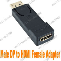 Wholesale 10pcs K07 Male Display Port DP to Female HDMI Converter Adapter