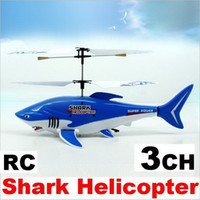 Wholesale Remote control CH Air flying Shark RC Helicopter X19X10 CM size
