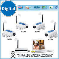 Wholesale 2 G wireless digital cctv security audio video camera system kit night vision