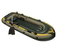 Wholesale 5451 free shiping Inflatable Kayak Canoe Fish Boat High Quality INTEX Seahawk for One Person