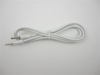 Wholesale mm to mm Car Aux Audio Cable M for MP3 for mobile phone white