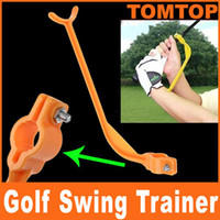 Wholesale EMS Golf Practice Plane Swing Guide Trainer Gesture Alignment Training Aid Tool H8250