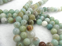 Wholesale High Quality Natural Amazonite mm Round Beads Semi precious Stone Loose Beads