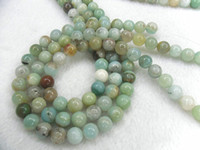 Wholesale Natural Amazonite mm Round Beads High Quality Semi precious Stone Loose Beads