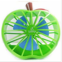 Wholesale New Arrival Mini USB apple fan desktop small fan USB battery amphibious power supply