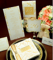 Wholesale Wedding invitation set TX invitation card RSVP card table card name place card and menu