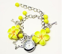 Wholesale 1 Pc New Lady Jewelry Beads Watch Flower Retro Bracelet Cuff Wrist Gift Watch