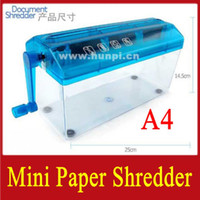 Wholesale Retail Mini Portable Home Office Desktop Hand Powered Paper Shredder Shredding Machine Strip Cut A4