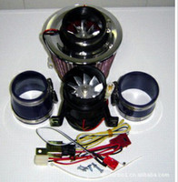 Wholesale Turbo Electric Supercharger Electric turbocharger supercharger kit Metal wheel two Motor