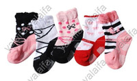 Boy anti slip child socks - baby girls casual winter socks baby cute lovely socks children solid anti slip sock baby clothing