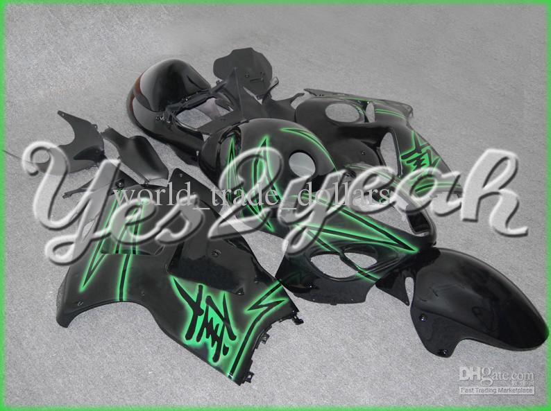 NEW fairing kits Fit Hayabusa GSX1300R 99-07 Green Black Fairing 36Z43