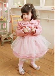 Wholesale Autumn Spring Children Clothing Baby s Clothes button grenadine Girl s Dress Coat Jacket windcoat