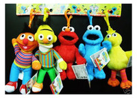 Multicolor sesame street - Colorful Sesame Street Elmo Stuffed Plush Dolls Toys Keychain inch
