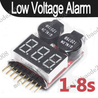 Wholesale 100pcs K15 Lipo Battery Low Voltage Tester S S Buzzer Alarm