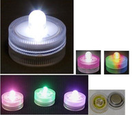 Yes orange red led - LED waterproof candle lights wireless submersible led light red green white blue pink orange purple