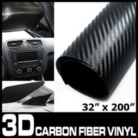 Wholesale Carbon Fiber Vinyl Carbon Fiber Sticker Carbonfiber Wrap Air Free Bubbles Black quot x quot