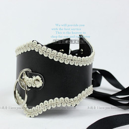 Wholesale HOT Slave Collar leather Collar bondage Posture Collar bdsm Lace collars sexy toy