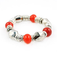 Wholesale CCB shiny bracelet with gemstone bead bracelet BR