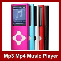 Wholesale MP3 MP4 Player inch LCD Screen Slim Thin GB GB TH Coloeful FreeShip FM Ebook pic MP18