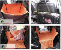 Wholesale Waterproof Pet Dog Car Seat Cover Hammock Mat Blanket Cradle Orange x58x36cm V3437
