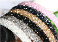 rhinestone headbands - Korean Fish Line Hand cut Crystal Beading Width Of Hair Band Mixed Order