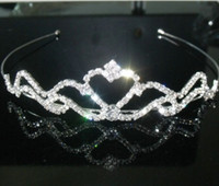Wholesale bridal wedding dress Accessories Tiaras Hair set of the bride heart Tiara jewelry S HG912