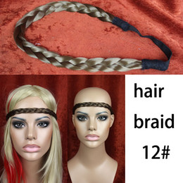 Wholesale hair pieces hair braid hair extensions braided headband hair accessory