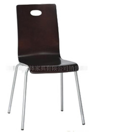 Wholesale Metal frame curved wooden chairs factory customized reliable quality novel style