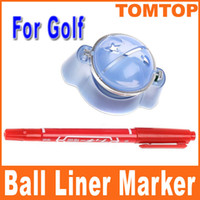 Wholesale Golf Ball Line Marker Template Platform Ink Pen Template Alignment Tool for golf player H8337